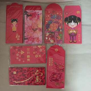 All for $8 - Assorted Brandnew red packet/angbao/hongbao year 2016