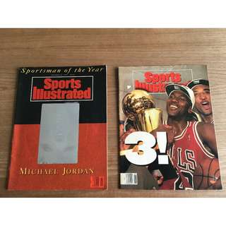 Vintage Michael Jordan Sports Illustrated collectible magazines