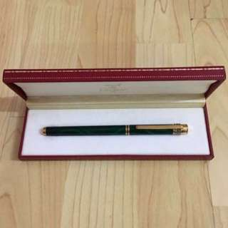 30% OFF GREAT CNY SALE {Collectibles Item - Vintage Fountain Pen} Authentic Pre-loved Gorgeous Vintage Gold Plated De Cartier Brand Signature/Fountain Pen