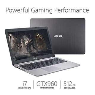 Asus gaming laptop gtx960m i7 560gb ssd