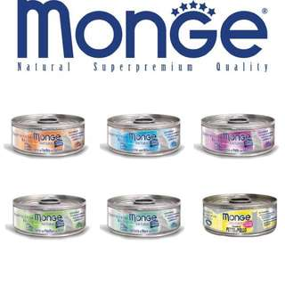 Monge Natural & Delicate Cat Food 80g, 24 cans