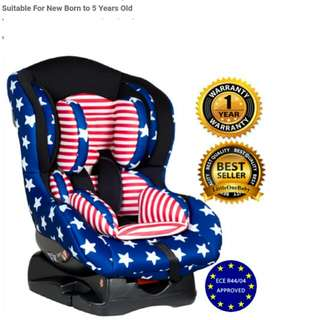 *FREE DELIVERY to WM only / Ready stock, offer*      Little One Exclusive Baby Safety CSB Car Seat New Born to 5 Years Old as shown design/color.  Free delivery is applied for this item. NP RM238
