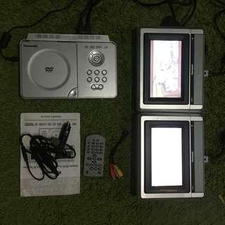Kawasaki PVS 1965 dual LCD mobile DVD player