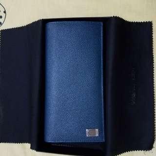 情人節禮物 D & G 長形藍色銀包多格有盒