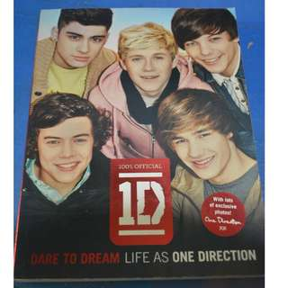 100% OFFICIAL DARE TO DREAM ONE DIRECTION BOOK