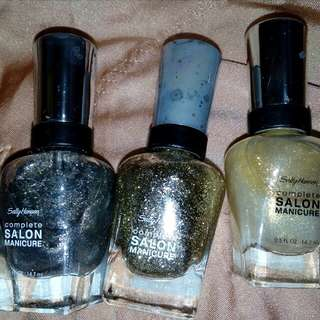 3 Sally hansen nail colours