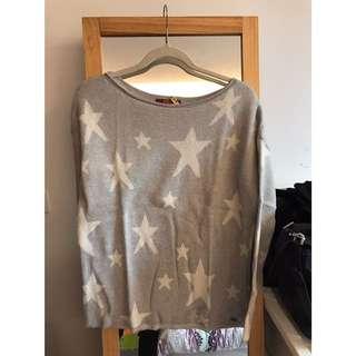Esprit副牌edc 星星羊毛針織衫