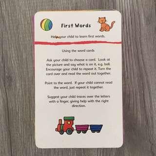 First Words Flashcard Set