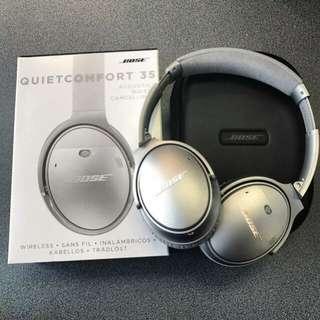Bose Quietcomfort 35 Wireless Silver Headphone
