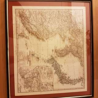 antique map.1876.  Korea.japan China