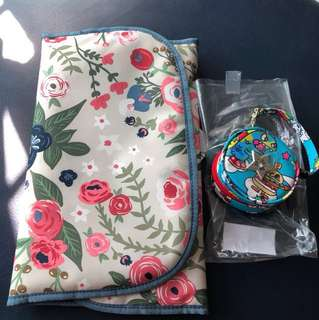Rosy posy changing pad and RD pacipod jujube