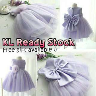 *FREE DELIVERY to WM only / Ready stock*      Kids gown size 80 90 100 as shown design/color. Free delivery is applied for this item.