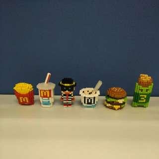麥當勞 McDonald's LEGO 玩具 一套6隻