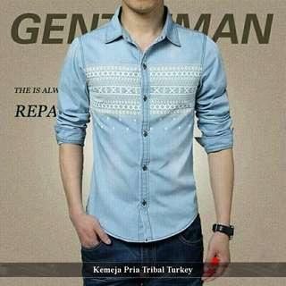 Kemeja Pria Murah | Fashion pria Keren | Tribal turkey