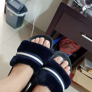 Rubi sandal navy with lining strap