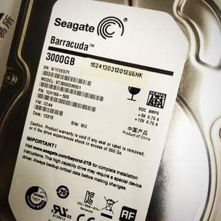 3TB Seagate 7200rpm Barracuda HDD
