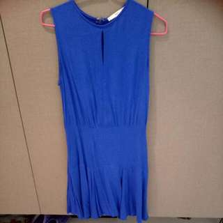 Electric Blue Mango Suit Dress In XS