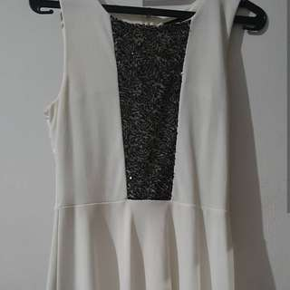 White Sequin Body n Soul Dress