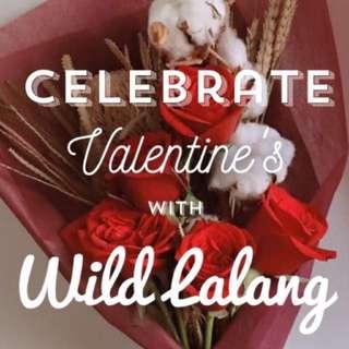 Valentine's Day Specials - Rose, Hydrangea, Cotton, Baby Breath, Rustic Arrangements