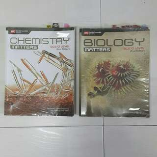 Sec 3&4 bio & chem textbooks