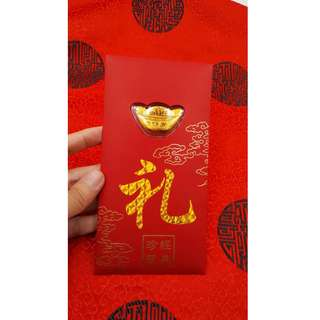 999 Pure Gold Red Packet Yuan Bao 999足金 黄金元宝红包 CNY [READY STOCK] [WHOLESALE PRICE]
