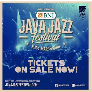Java Jazz Festival Daily Pass for Saturday 3 Mar 2018