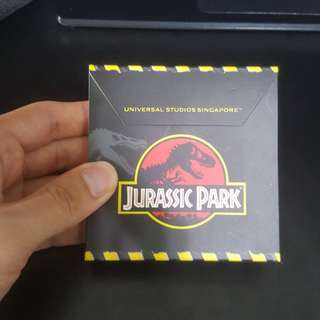Jurassic Park notepad from Universal Studios Singapore