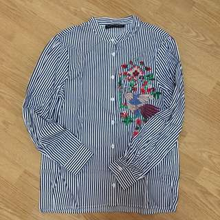 Embroidered LS Top