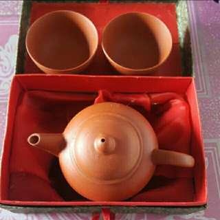 潮州功夫茶壺連杯兩隻套裝 連精美錦盒