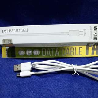 USB Cable FAST USB DATA CABLE (FOR ANDROID , 1 METER )