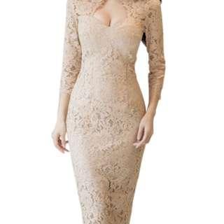 Brokat dress uk xs s m dan l