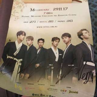 Vixx all members signed poster concert