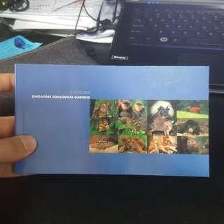 Singapore zoological gardens 12 postcards