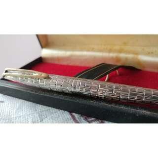 Waterman CF Crocodile 銀 18k金 墨水筆 Fountain pen