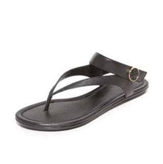 Tory Burch 摺疊夾腳拖鞋 涼鞋 7.5 黑