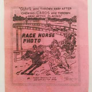 Race horse photo old paper game