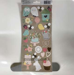 Pebbles accent stickers