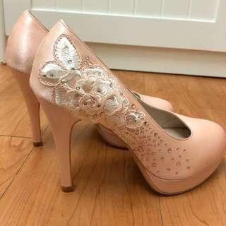 KOKKO粉色高跟鞋