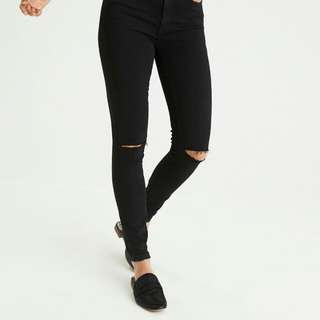 American Eagle Outfitters Black Ripped Jeans