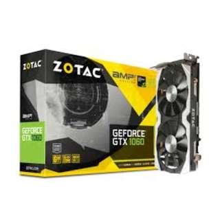 ZOTAC  GTX 1060 A.M.P 6GB GDDR5