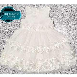 💞Preloved! BONNIE JEAN White Dress