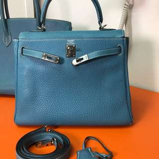 Hermes kelly 25 blue jeans