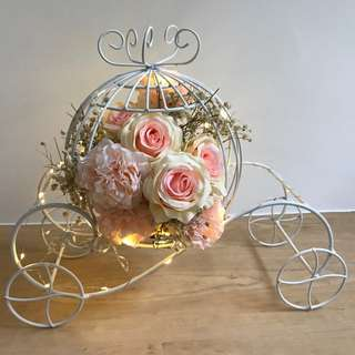Cinderella carriage with fairy lights