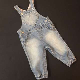 H&M denim overall