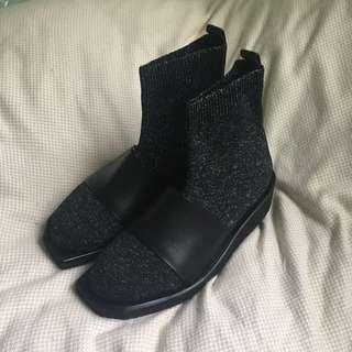 New 厚底 襪筒鞋