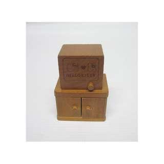Sanrio Miniature Wooden Television & Cabinet / Hello Kitty Wooden TV / Bunny