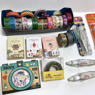 Stationery grab bags -washi tapes, stickers, letter pack