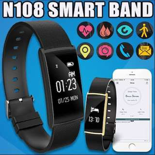 N108 Smart Watch/band - gold/silver