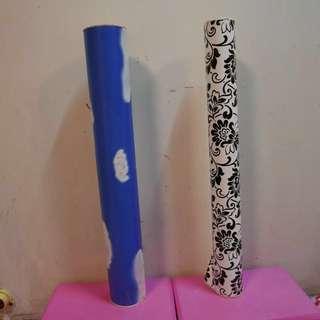 DIY自貼自黏貼牆紙 少女睡房書櫃衣櫃翻身必備 黑白印花牆紙