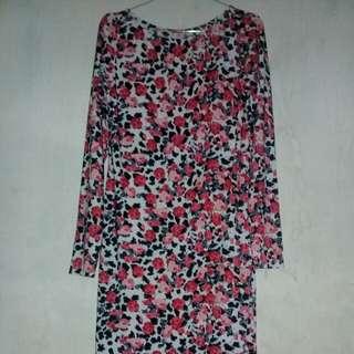 Flower midi dress